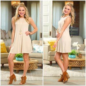 Infinity Raine Dresses - ❗️SALE❗️ Oatmeal waffle knit sleeveless dress